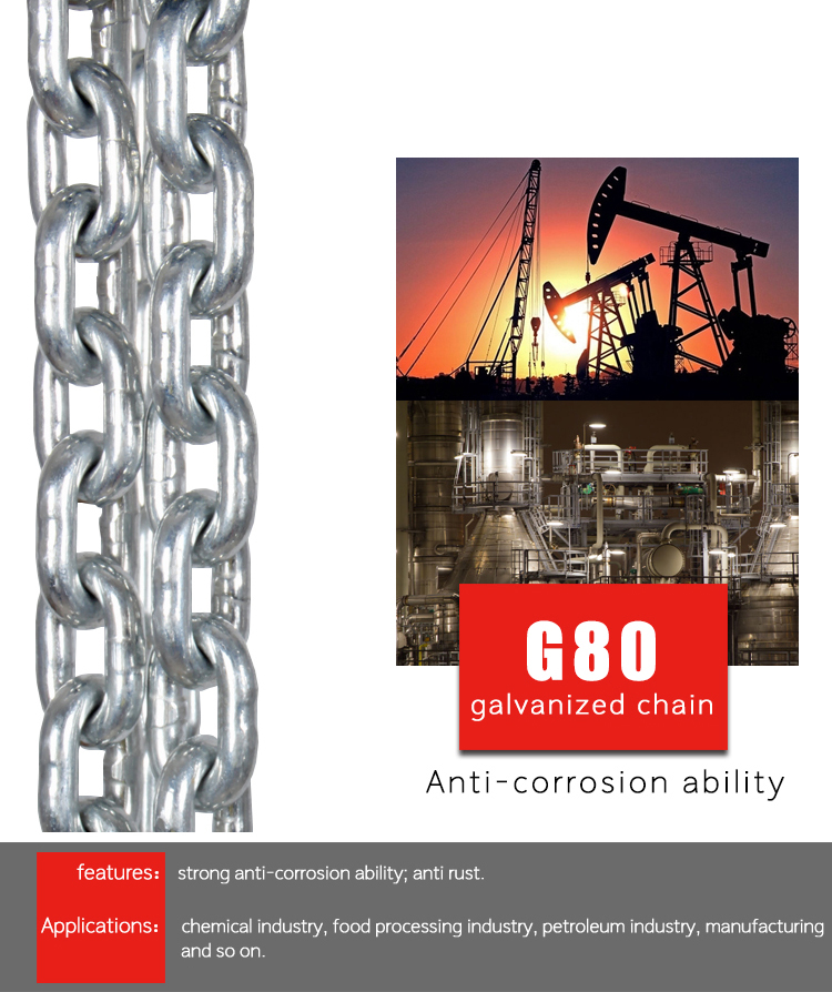 High strength G80 load chain